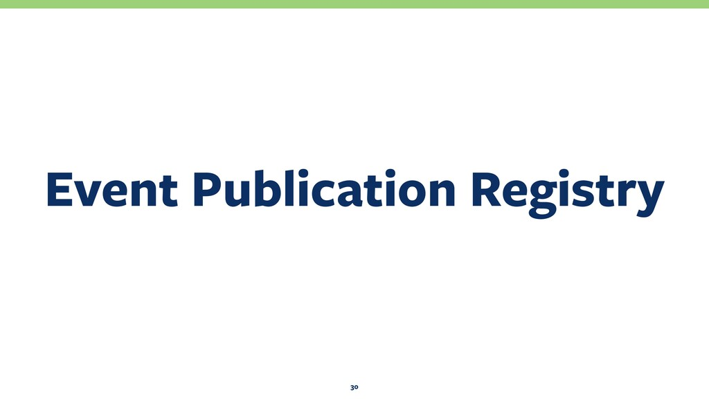 Event Publication Registry 30