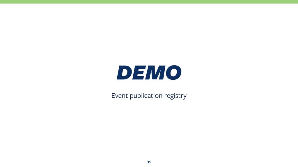 Event publication registry DEMO 33