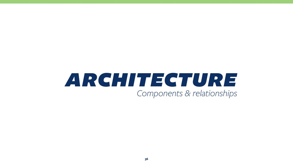 architecture Components & relationships 36