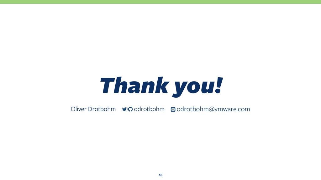 Thank you! 45 Oliver Drotbohm ƀ odrotbohm@vmwar...