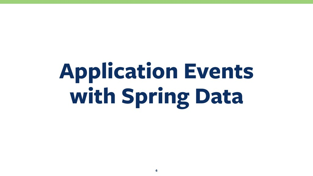 Application Events with Spring Data 6