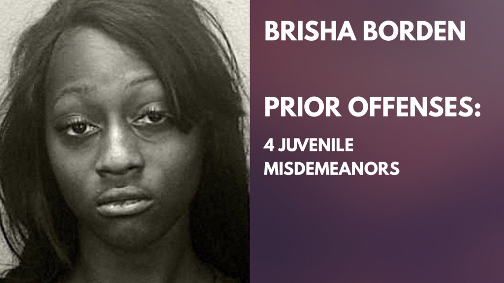 BRISHA BORDEN PRIOR OFFENSES: 4 JUVENILE MISDEM...
