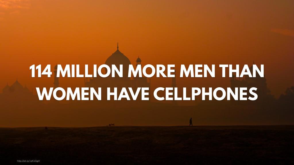 114 MILLION MORE MEN THAN WOMEN HAVE CELLPHONES...