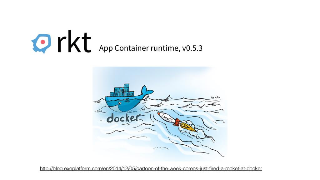 App Container runtime, v0.5.3 http://blog.exopl...