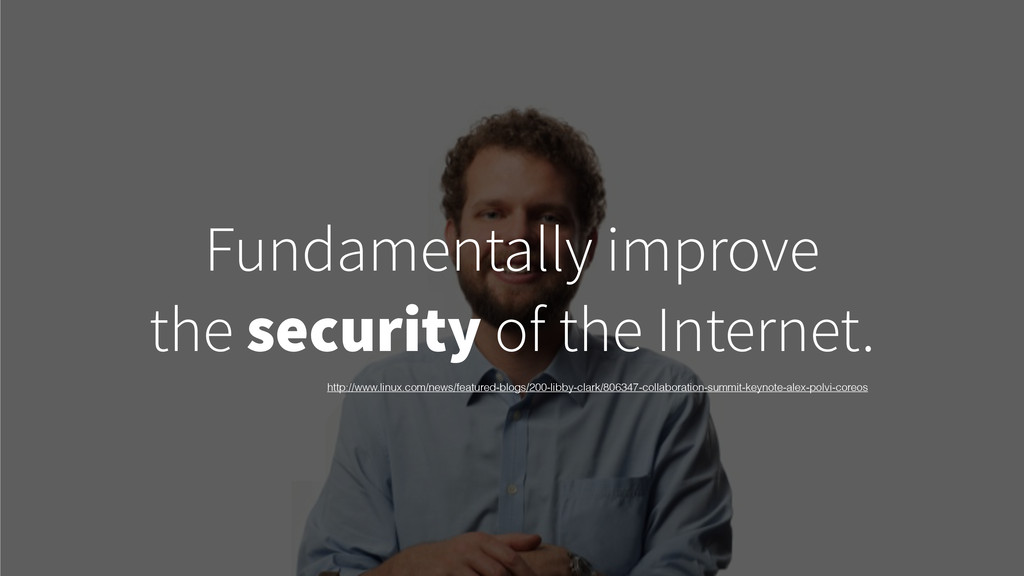 Fundamentally improve the security of the Inter...