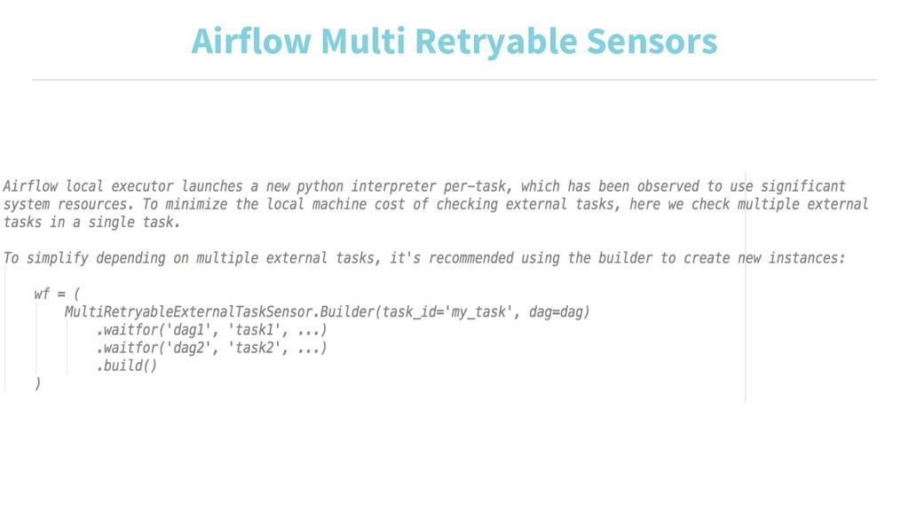 Airflow Multi Retryable Sensors