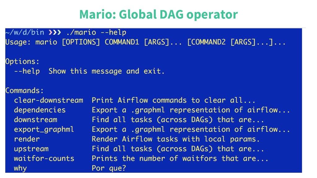 Mario: Global DAG operator