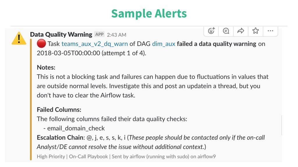 Sample Alerts