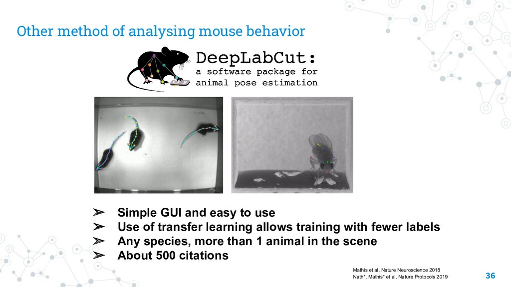Other method of analysing mouse behavior ➢ Simp...