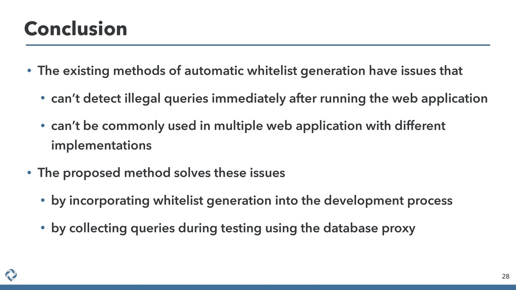 • The existing methods of automatic whitelist g...