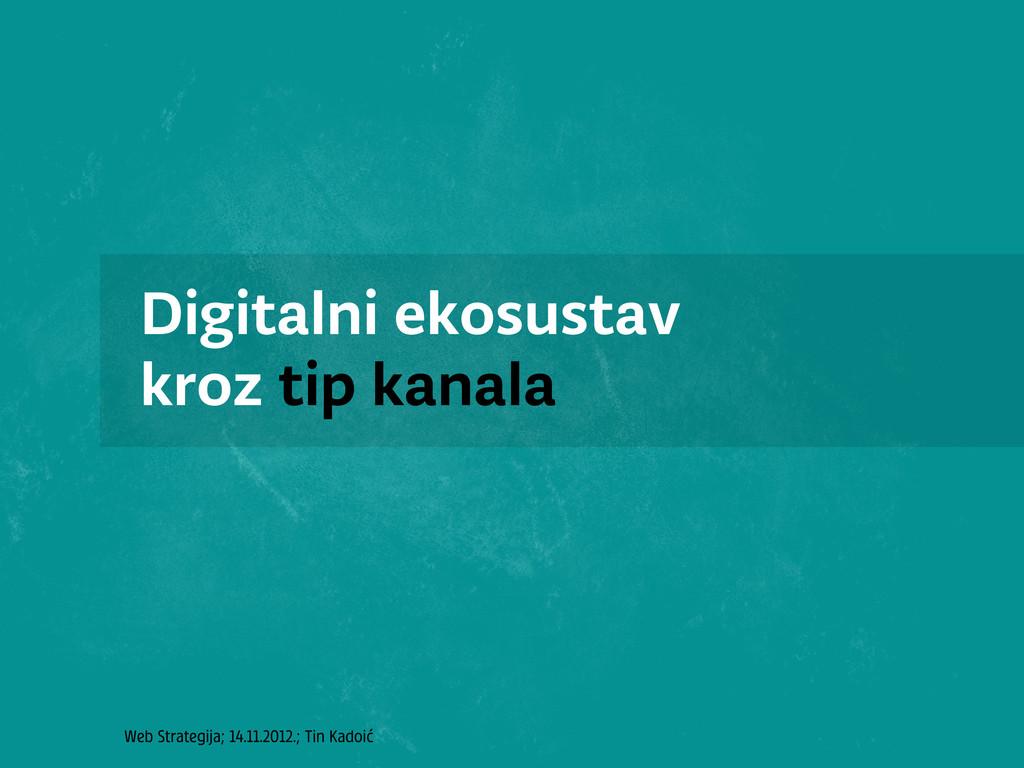 Web Strategija; 14.11.2012.; Tin Kadoić Digital...