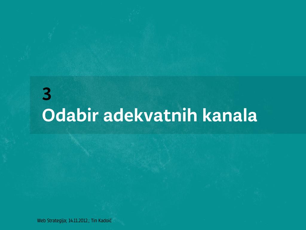 Web Strategija; 14.11.2012.; Tin Kadoić 3 Odabi...