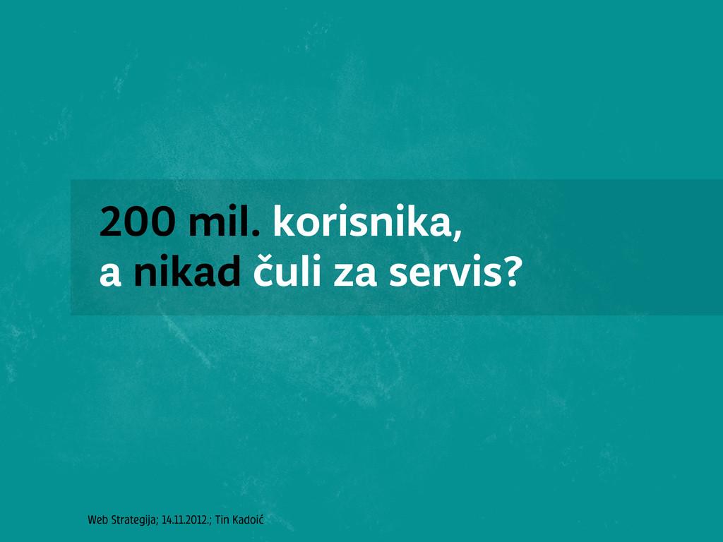 Web Strategija; 14.11.2012.; Tin Kadoić 200 mil...