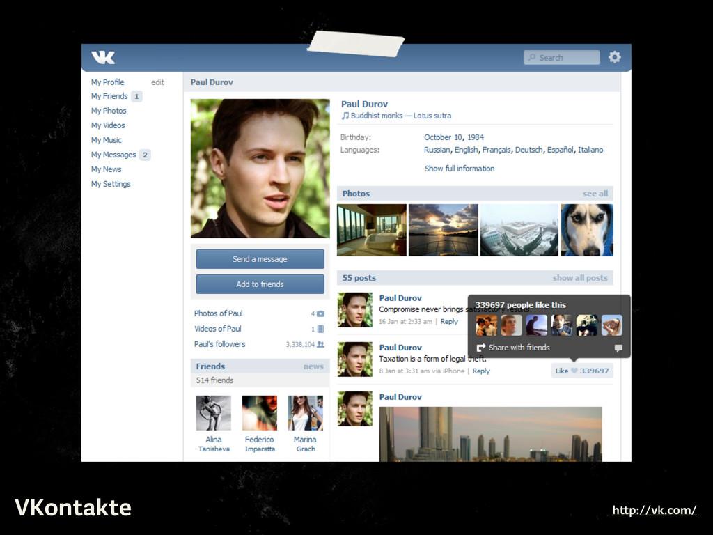 VKontakte h p://vk.com/
