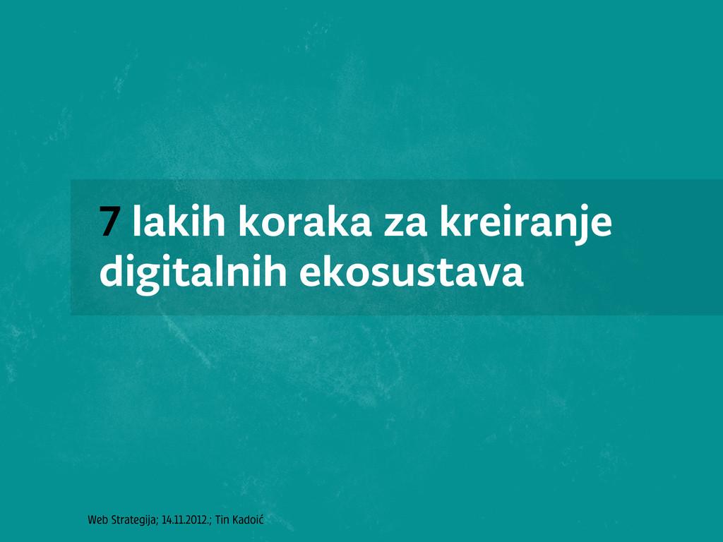Web Strategija; 14.11.2012.; Tin Kadoić 7 lakih...