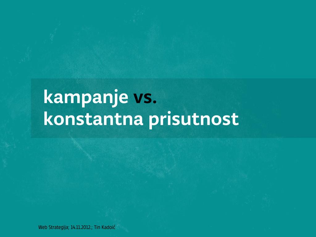 Web Strategija; 14.11.2012.; Tin Kadoić kampanj...