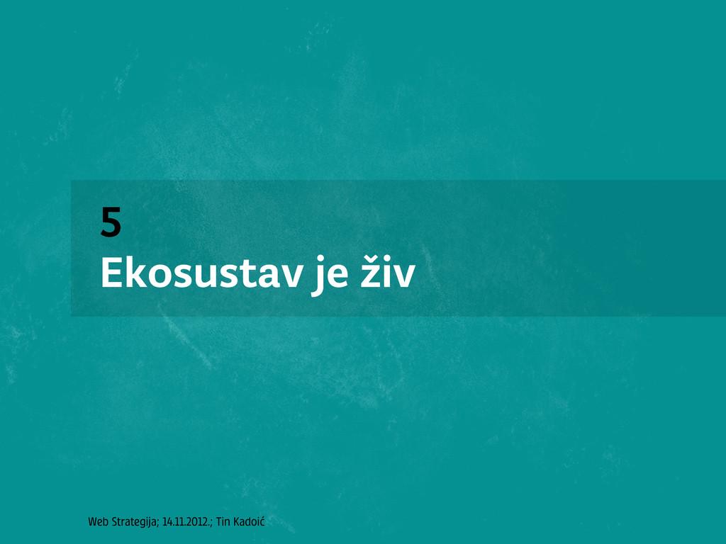 Web Strategija; 14.11.2012.; Tin Kadoić 5 Ekosu...