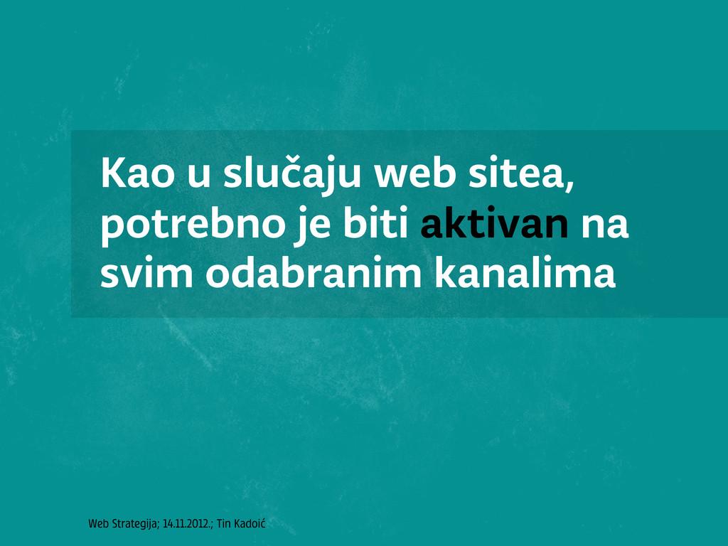 Web Strategija; 14.11.2012.; Tin Kadoić Kao u s...