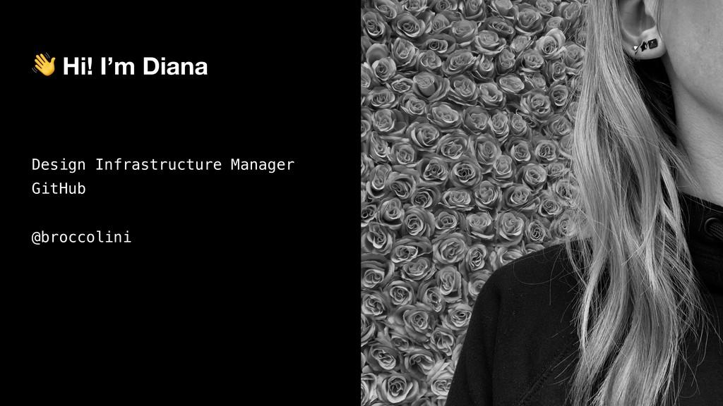 Hi! I'm Diana Design Infrastructure Manager Gi...