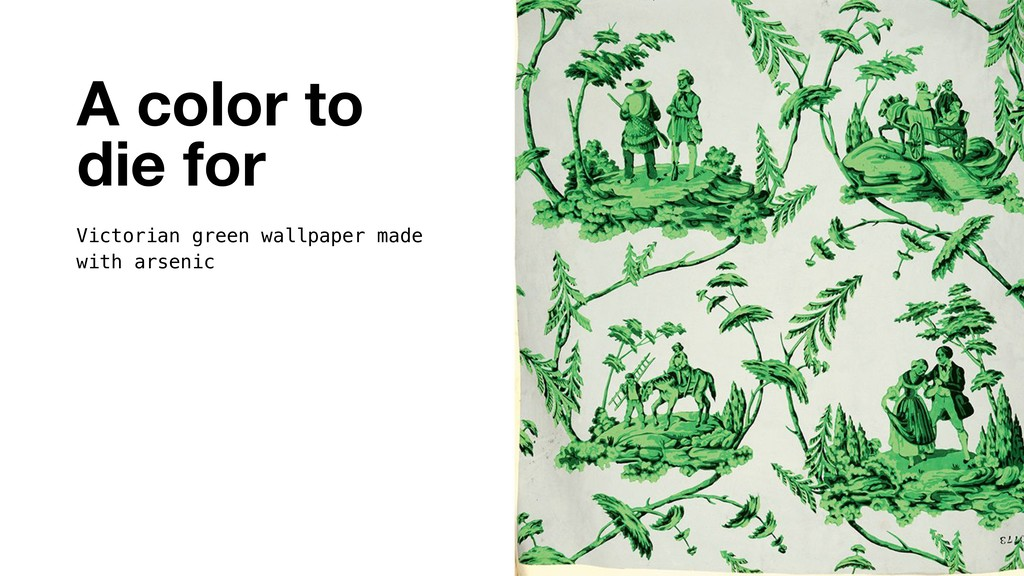 A color to die for Victorian green wallpaper ma...