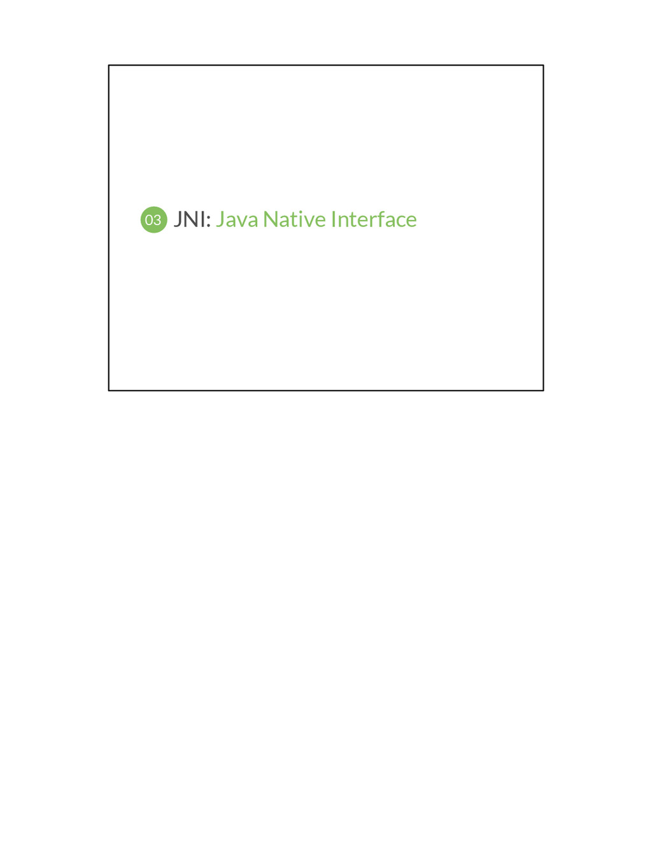 JNI: Java Native Interface 03