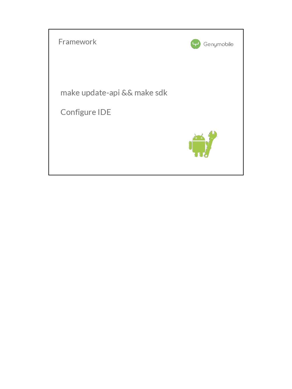 Framework make update-api && make sdk Configure...