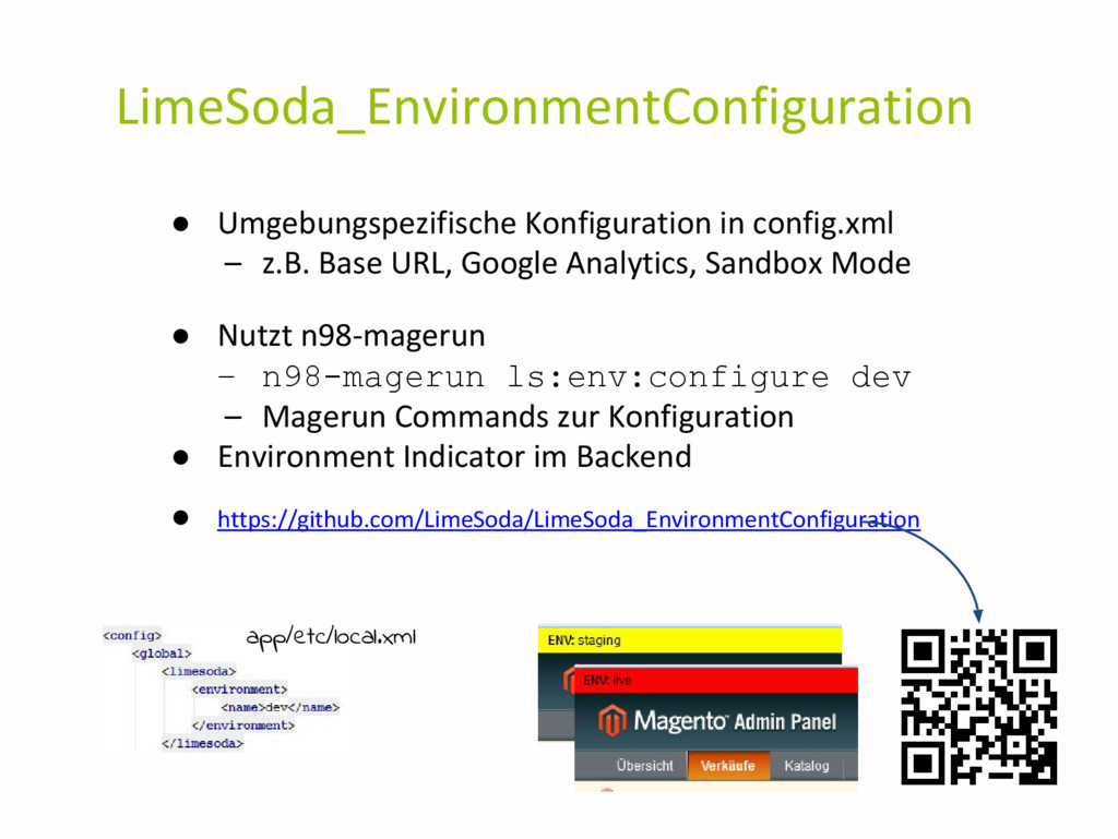 LimeSoda_EnvironmentConfiguration ● Umgebungspe...
