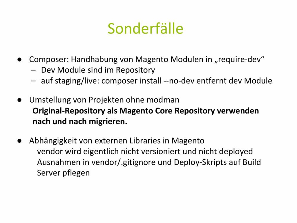 Sonderfälle ● Composer: Handhabung von Magento ...