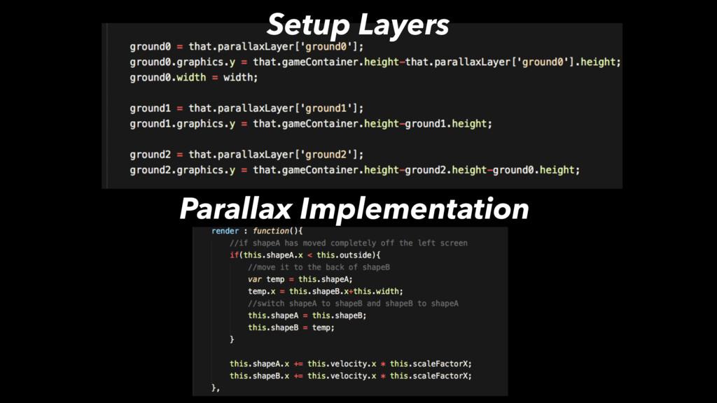 Setup Layers Parallax Implementation