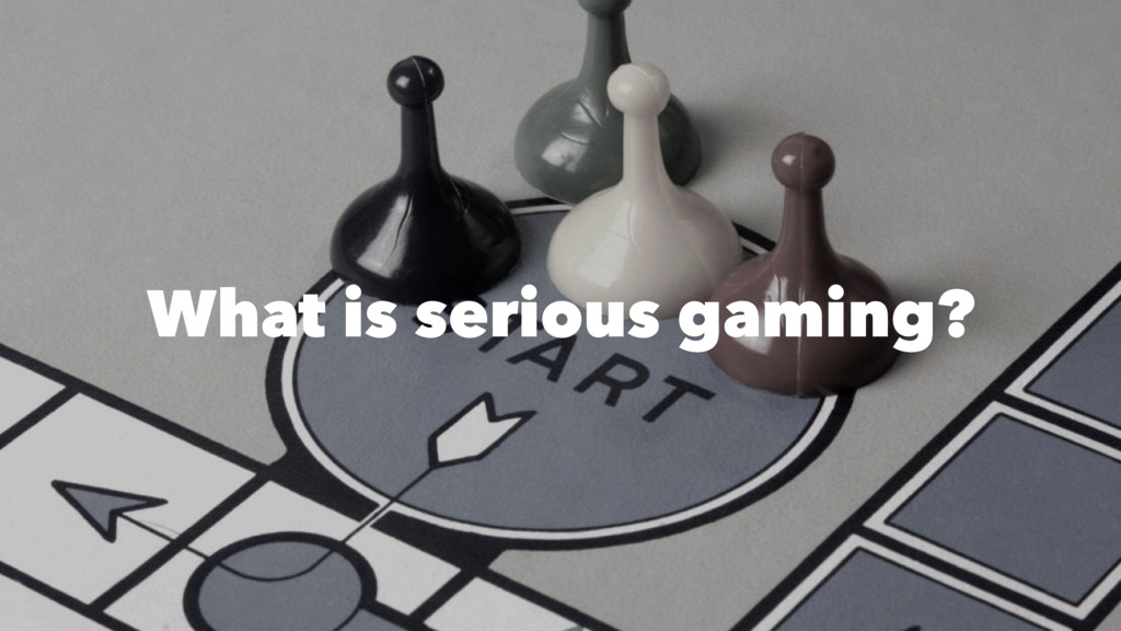 What is serious gaming?