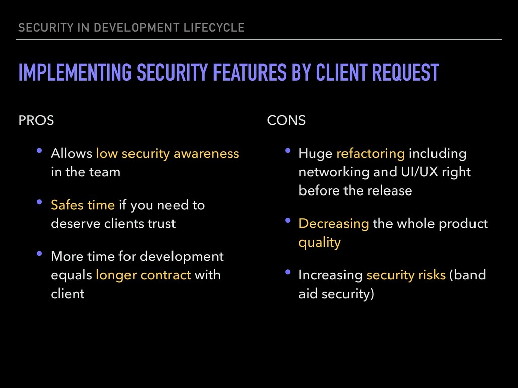 SECURITY IN DEVELOPMENT LIFECYCLE IMPLEMENTING ...