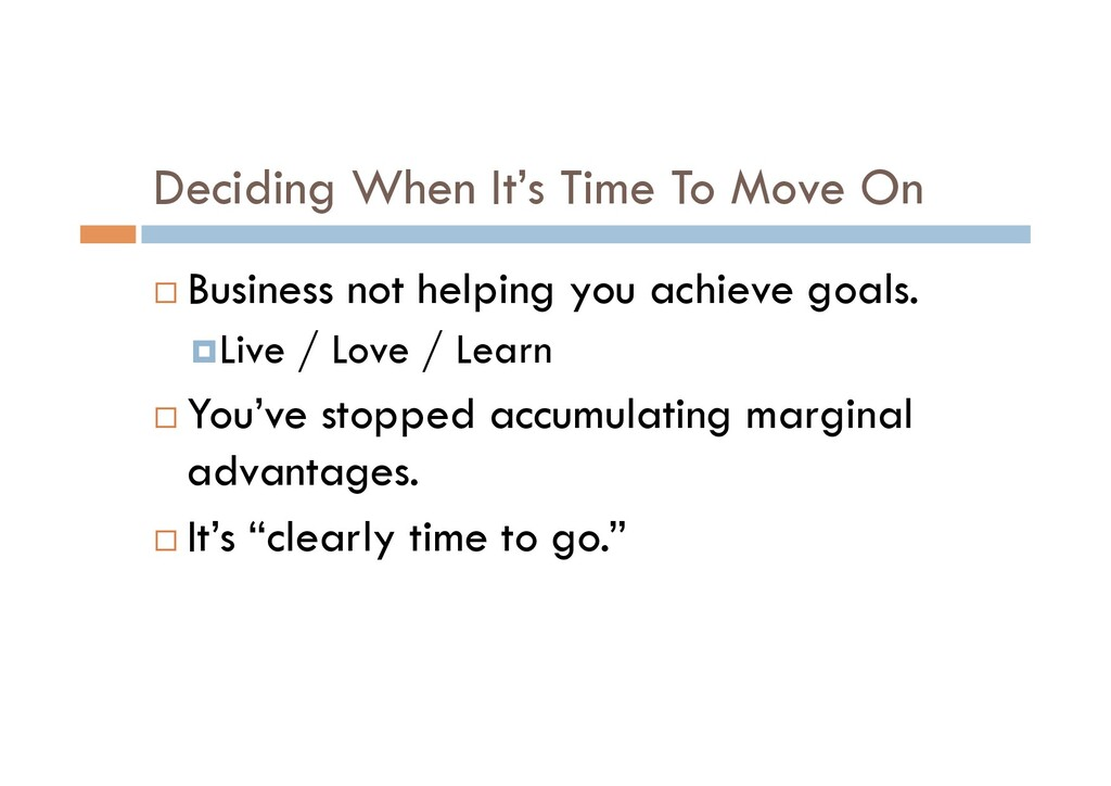 Deciding When It's Time To Move On ¨ Business n...