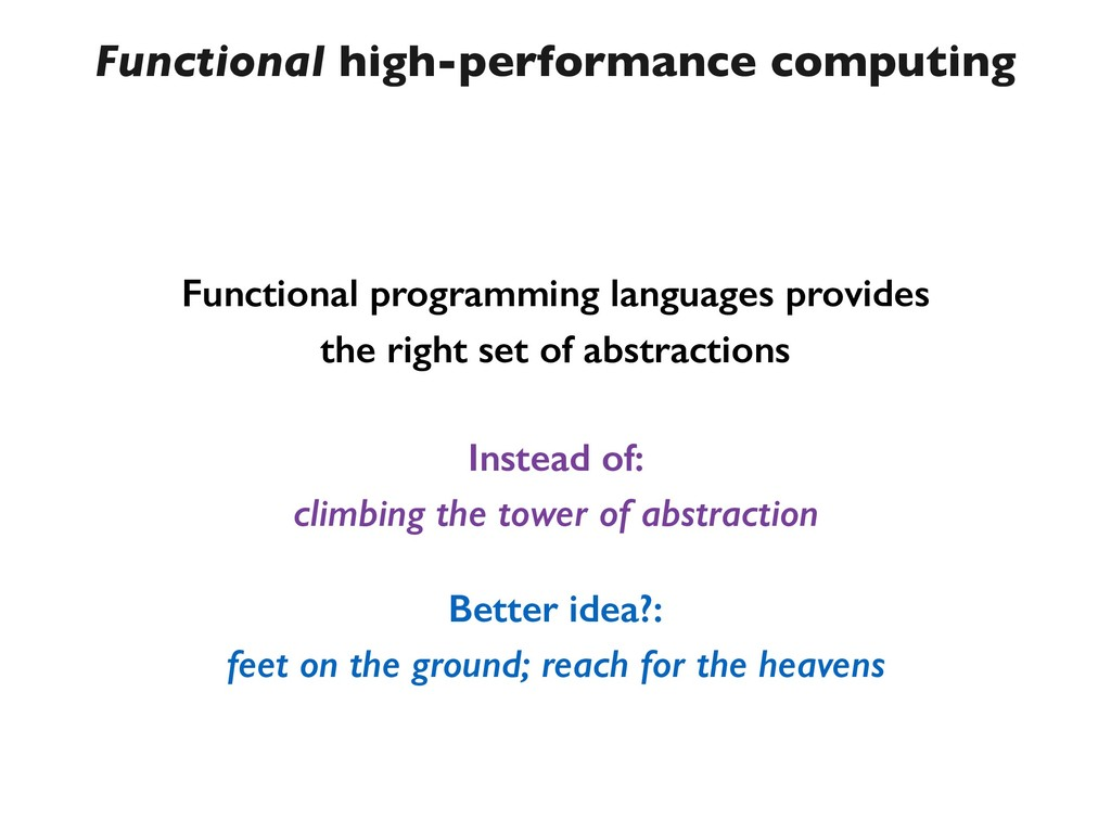 Functional high-performance computing Functiona...