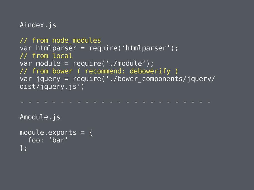 #index.js ! // from node_modules var htmlparser...