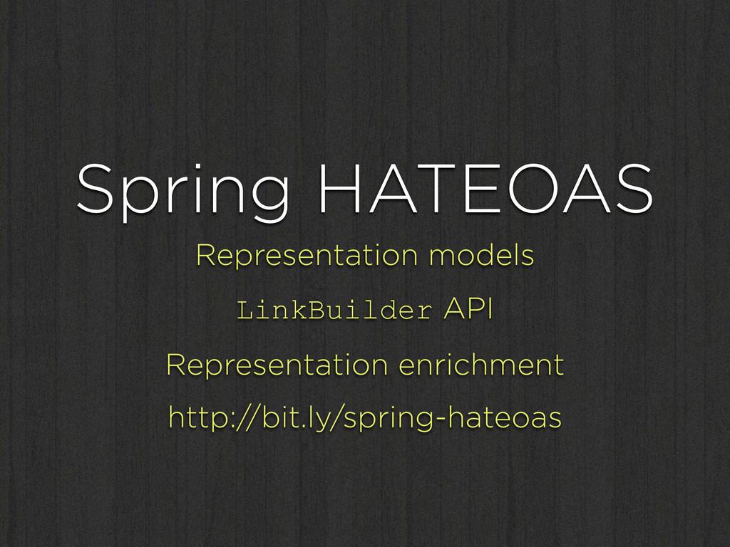 Spring HATEOAS Representation models LinkBuilde...