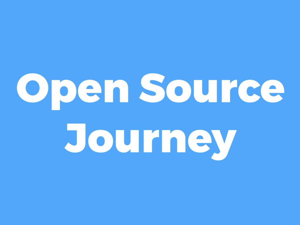 Open Source Journey
