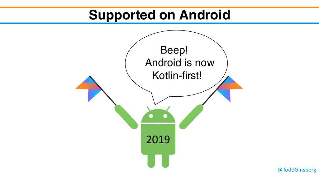 @ToddGinsberg Supported on Android Beep! Androi...