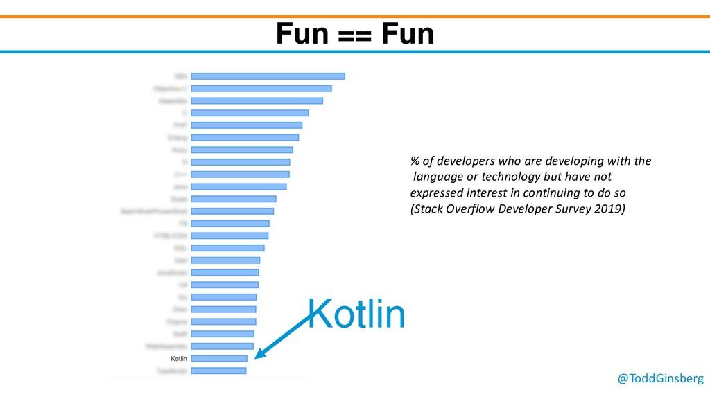 @ToddGinsberg Fun == Fun Kotlin % of developers...