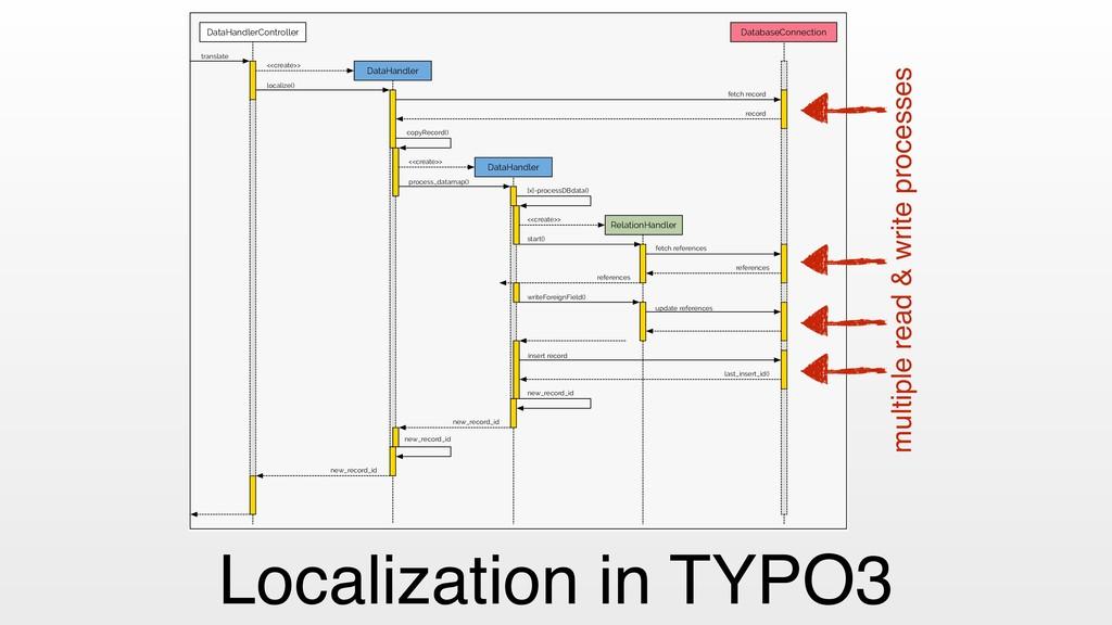 Localization in TYPO3 DataHandlerController Dat...