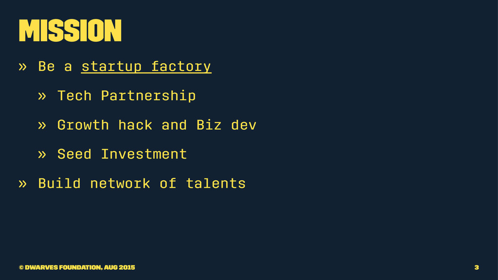 Mission » Be a startup factory » Tech Partnersh...
