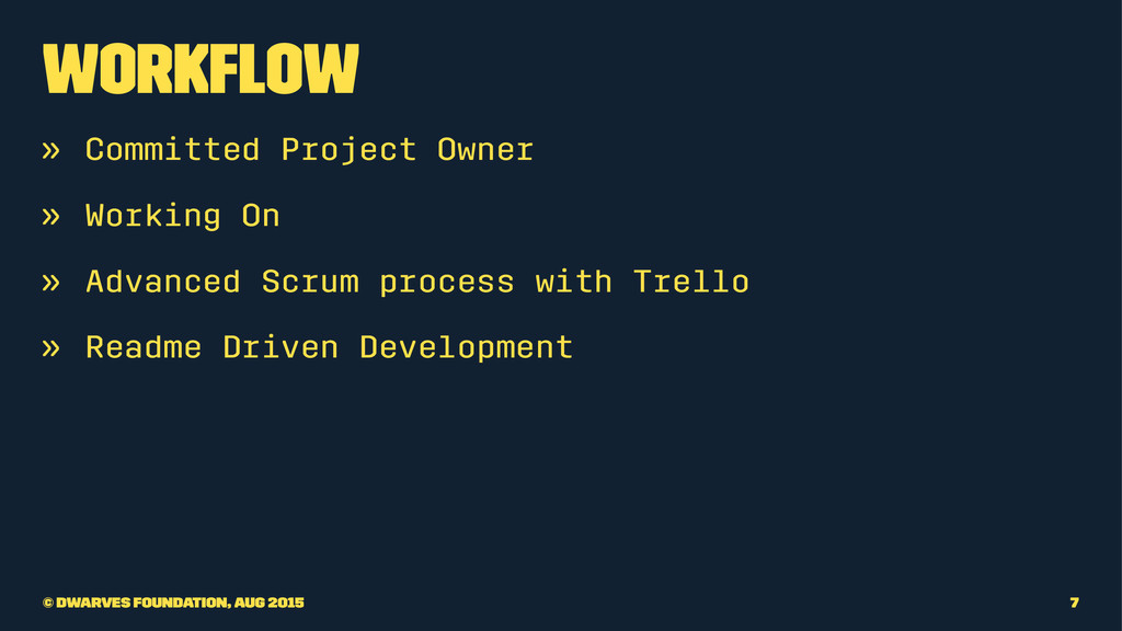 Workflow » Committed Project Owner » Working On ...