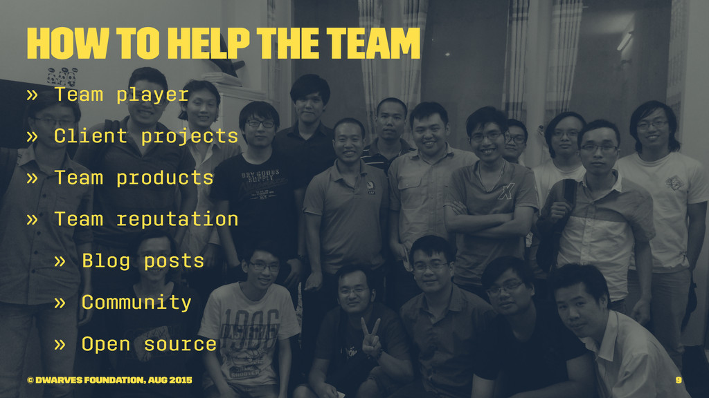 How to help the team » Team player » Client pro...