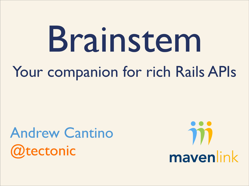 Brainstem Your companion for rich Rails APIs An...