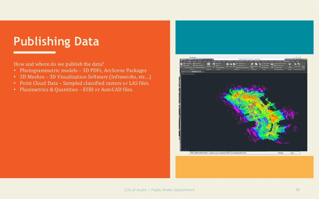 Publishing Data How and where do we publish the...