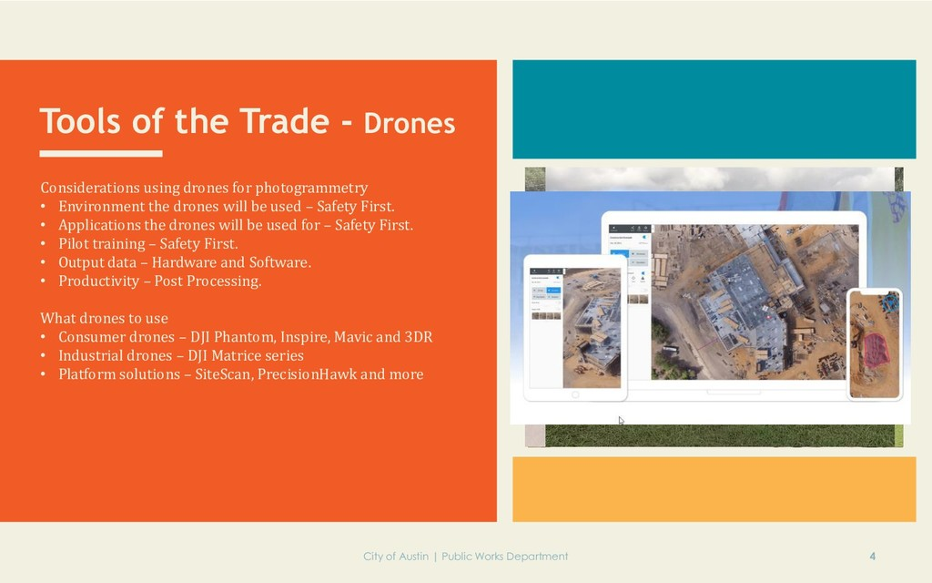 Tools of the Trade - Drones Considerations usin...