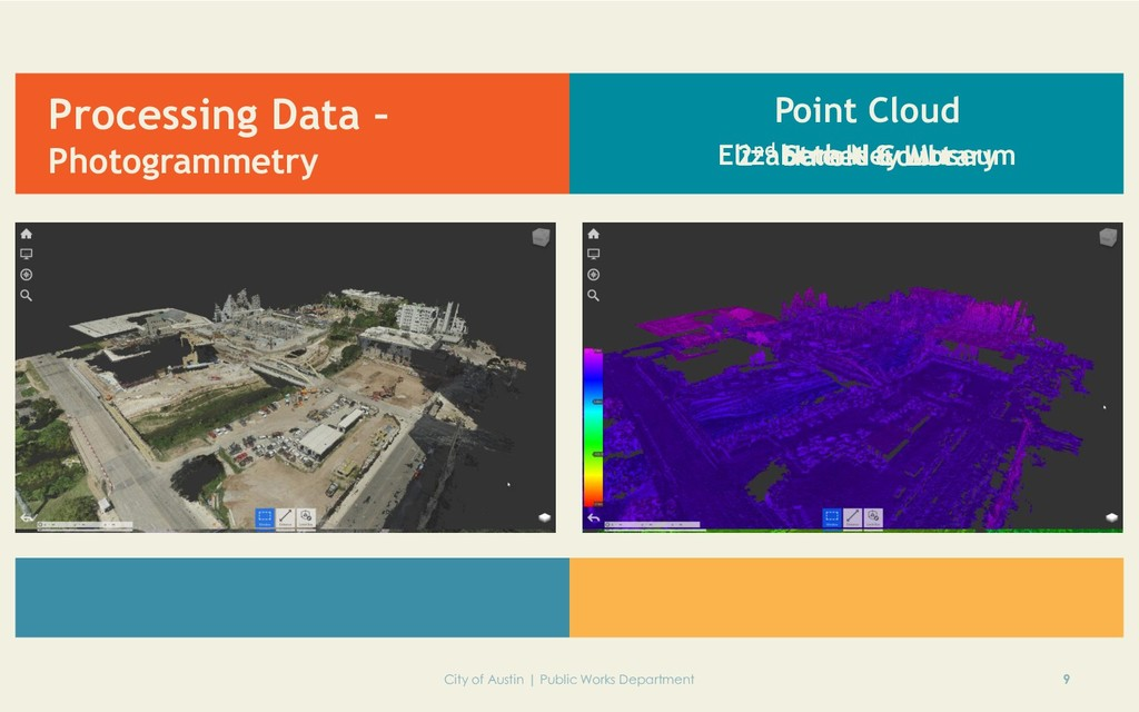 Processing Data – Photogrammetry 9 City of Aust...