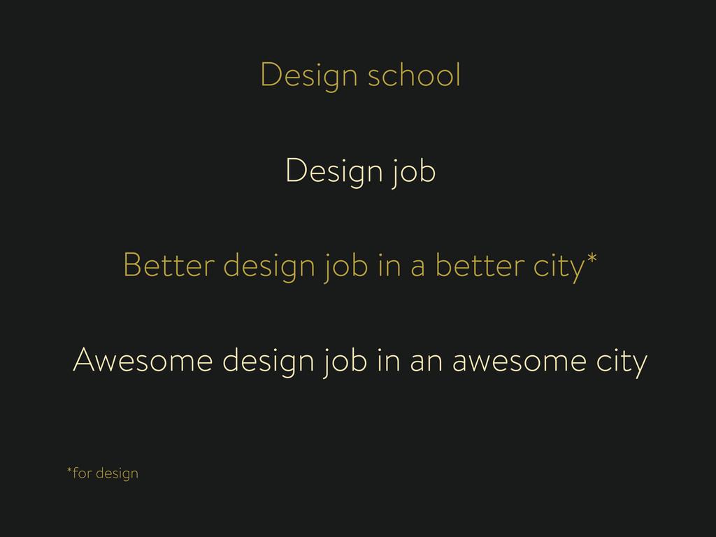 Design school Design job Better design job in a...