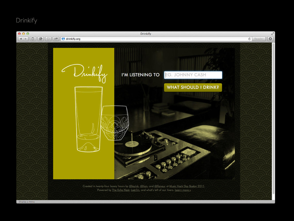 Last.fm Drinkify