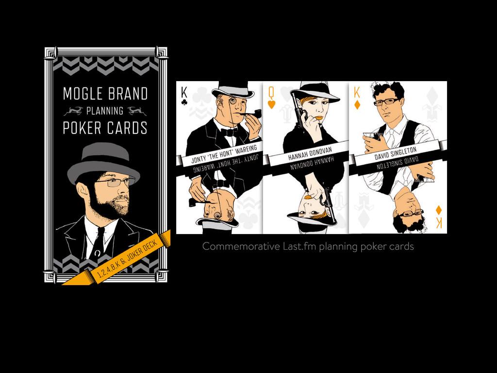 Commemorative Last.fm planning poker cards