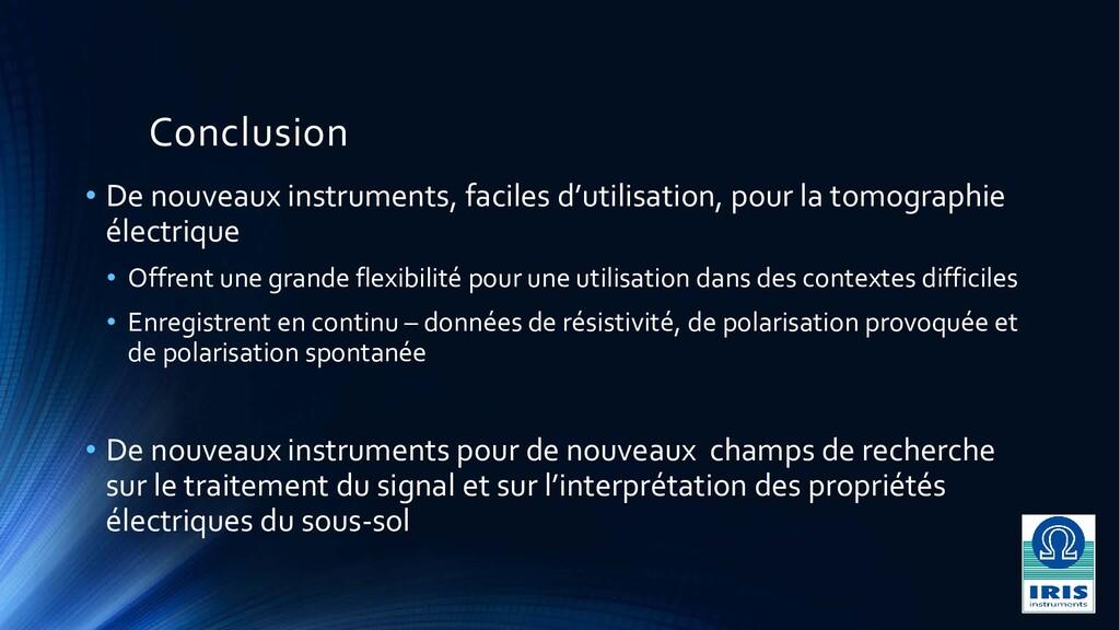 Conclusion • De nouveaux instruments, faciles d...